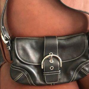 Coach small black shoulder bag